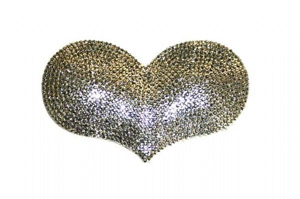 1piece x 85mm*55mm*5mm  Acrylic bling heart flat back hametite  colour -- heart drop shape -- 5000020